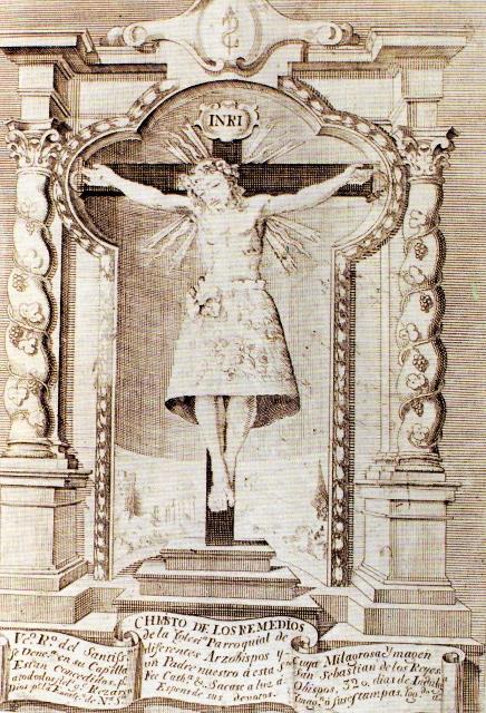 GRABADO CRISTO DE LOS REMEDIOS 1755