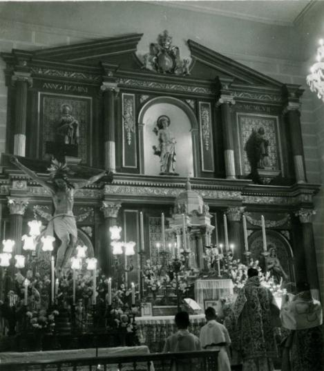 BENDICIÓN DEL NUEVO RETABLO. 28 AGOSTO 1958