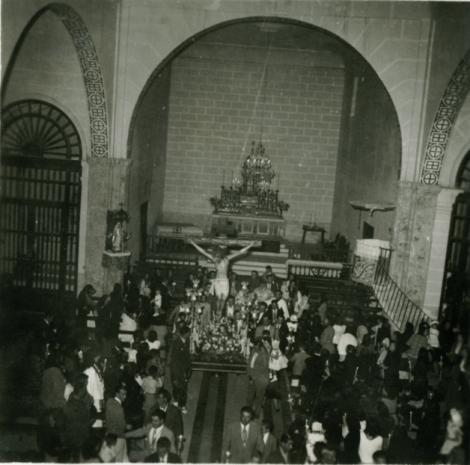 VISTA GENERAL CON EL CRISTO DE LOS REMEDIOS, HACIA 1950