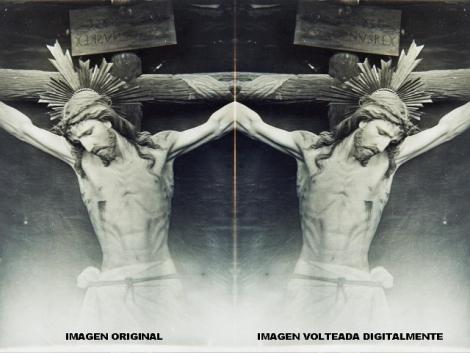 IMAGEN REAL E IMAGEN VOLTEADA CRISTO 1890
