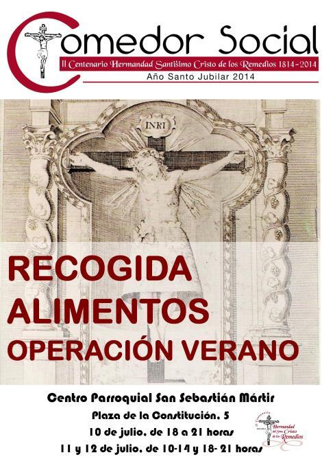 CARTEL RECOGIDA ALIMENTOS